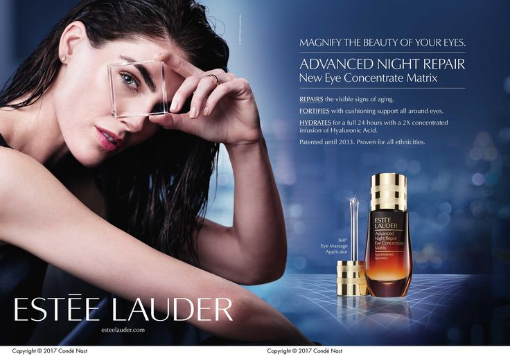 Week 5. Source: Advertisement: Estée lauder (estée lauder). (2017, Jul 01). Vogue, 207, 8-8, 9. This advertisement for Estee Lauder appeals to functional needs. The image provides a solution to a real problem. Women who are seeking a wrinkle repair cream will find the solution to their issue through this straight-forward advertisement.