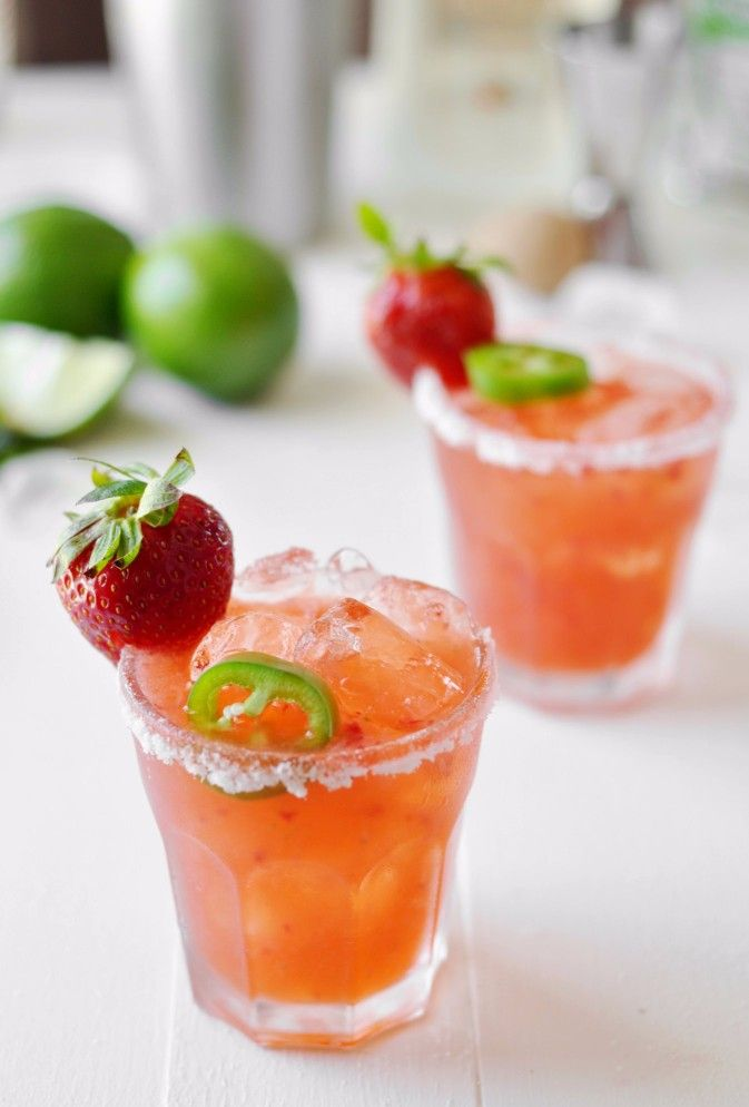 Strawberry Jalapeño Margarita  #cowgirl #cowgirldrinks   http://www.islandcowgirl.com
