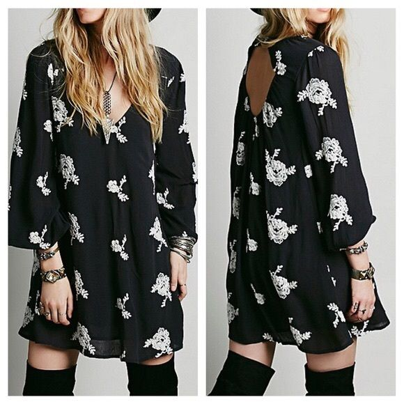 FREE PEOPLE Dress Long Sleeve Bohemian Swing Tunic Size Small. New with tags.  $148 Retail + Tax.  Floral embroidered dress featuring long sleeves and an overall flowy swing silhouette.  Elastic band at back cutout opening and sleeve cuffs. Fully lined (excluding sleeves).    Rayon, cotton.  Imported.    ❗️ No trades or holds.   Bundle 2+ items for a 20% discount!    Stop by my closet for even more items from this brand!  ✔️ Items are priced to sell, however reasonable offers will be…