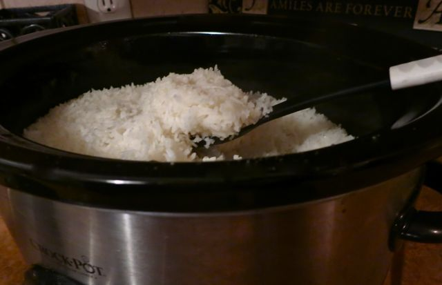 EASY Sticky Rice made in the Crock Pot- You won't ever make rice another way after this!
