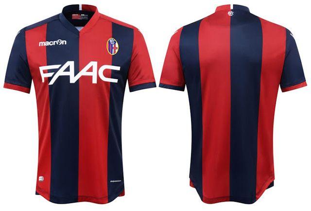 Camisas do Bologna FC 2016-2017 Macron