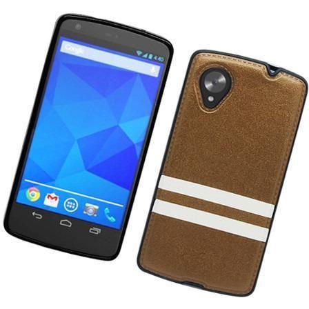 Eaglecell Hybrid Leather TPU Google Nexus 5 Case - Brown/White