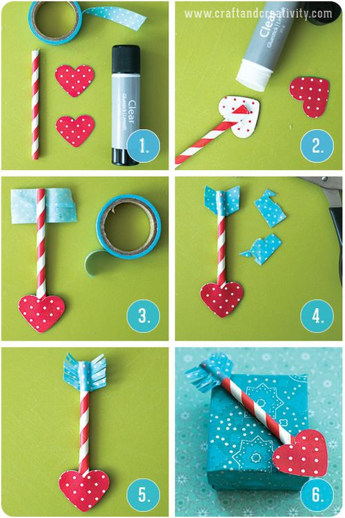 Paper Straw Love Arrows - by Craft & Creativity