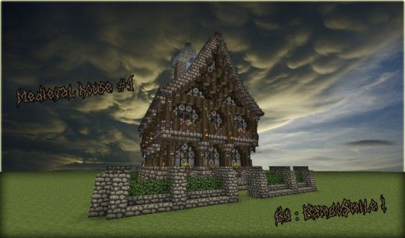 Minecraft Medieval House 07 590x347