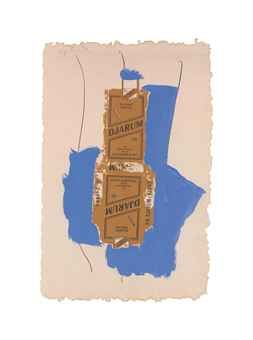 Robert Motherwell (1915-1991) Djarum (B. 145; E. & B. 176) lithograph and screenprint in colors with collage and hand-coloring, 1975, on Arches, signed in pencil, numbered 8/18 (there were also 18 artist's proofs in Roman numerals), published by Tyler Graphics Ltd., Mount Kisco, New York, with their blindtstamp, with full margins