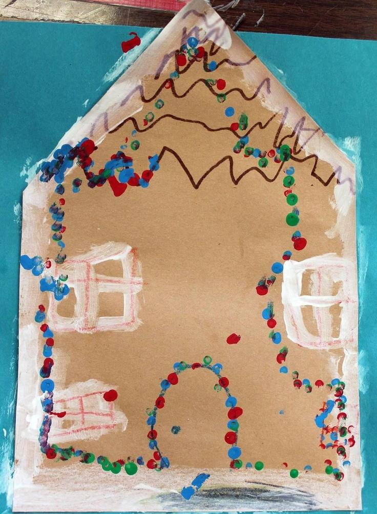 gingerbread house | Christmas Art | Pinterest: pinterest.com/pin/98868154291795193