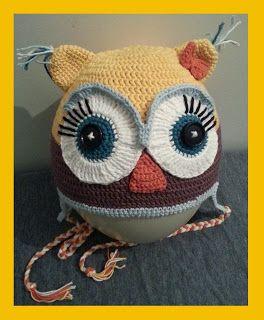 DEEA'S ARTCRAFT: OWL LADY HAT