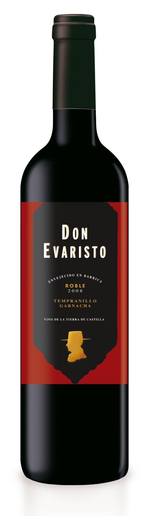 Tinto Roble • Vino de la Tierra de Castilla. Classic Red Wine Design.