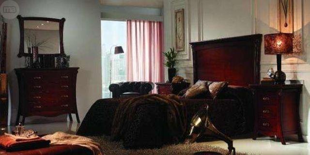 . Espectacular dormitorio fabricado en madera modelo Versalles, compuesto por Cabecero alto de 135, mesita de noche de 3 cajones (2 unidades), c�moda de 4 cajones y espejo para c�moda. Barnizado en color cerezo. Porte incluido en el precio. Opcional armario (2, 3 � 4 puertas) y sinfonier de 7 cajones. Tenemos mas modelos de dormitorios. Llama ahora e informate sin compromiso o visita nuestra web INFUDEA. Tenemos tienda f�sica