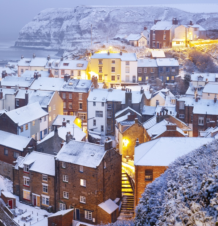 Interesting townscape photograph by Joe Cornish titled 'Snow Comes to the North Sea'. Love the detail in this.