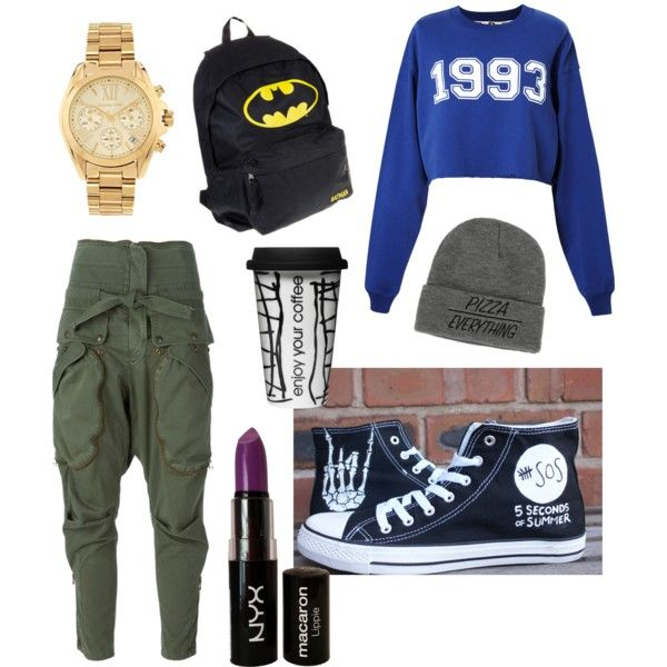 Untitled #6 by luca-sarkany on Polyvore featuring polyvore fashion style MSGM Faith Connexion Michael Kors NYX Dot & Bo