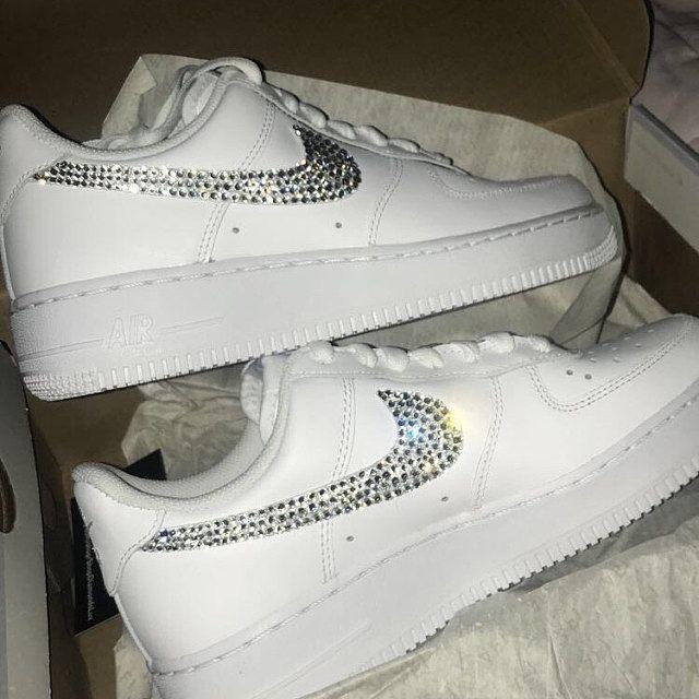 Swarovski Bling Nike Air 90 Women's Custom White Sneakers