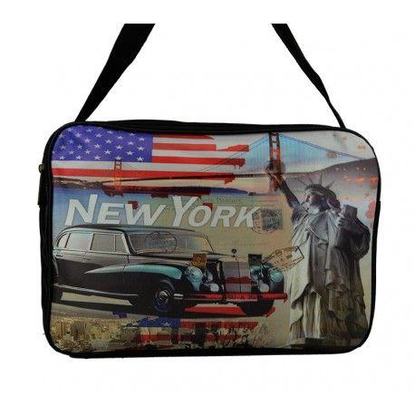 Stor taske med kendte seværdigheder i USA - super skøn taske