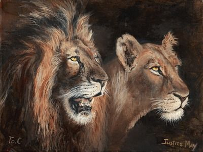 Imfpa Lion Kingdom Painting Contemporary Wall Art on Shimply.com
