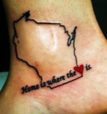super cute tattoo idea! I want this but Kentucky :)
