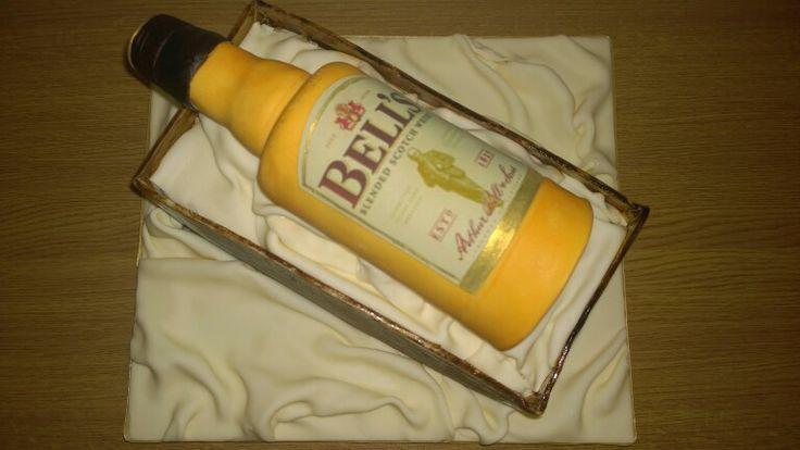 Bells whiskey bottle cake