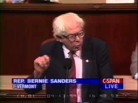 "Bernie Sanders: Incarcerating a Country (4/13/1994) | https://youtu.be/LTn3jUoMdVI | ""Rep. Bernie Sanders (I-VT) denounces the federal crime bill, arguing that Congress needs to address the very serious issues that underlie the problems of crime and addiction – poverty, hunger, unemployment, social and economic alienation; Sanders laments the attention to jails and punishment in crime prevention."" Click to watch and share video (3:45). #FeelTheBern #BernieStrong"