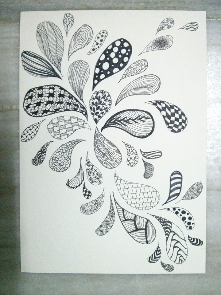 Scattered zentangle droplets.