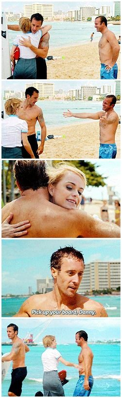 Steve's 'oh god my husband what even' thought bubble is almost palpable  and mary is so fucking cute omg I knew I missed her but actually having her back is amazeballs and I'm still not over it  alex o'loughlin  scott caan  taryn manning  hawaii five 0 2.19
