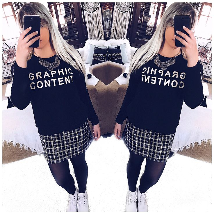 """7 Likes, 3 Comments - Zoë Backhouse (@zoejoyxoxo) on Instagram: """"Warning Graphic Content ⚠️ #OOTD Jumper, Plaid Skirt + Tights 