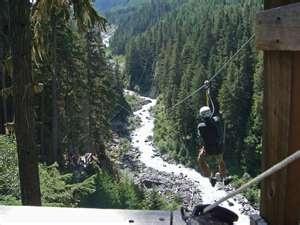 Zipline in Whistler, Canada