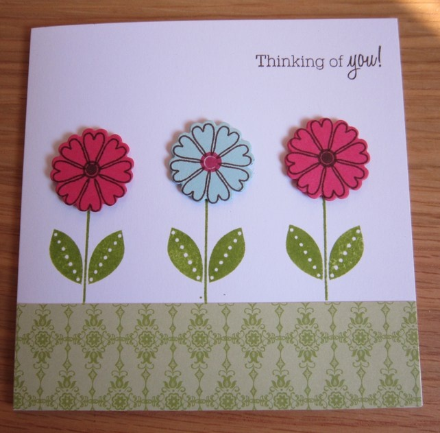 Flowers Thinking of You Card £1.50