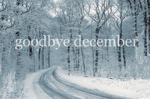 Goodbye December new years winter trees months december goodbye december