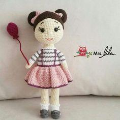 """357 Likes, 13 Comments - Mrs.Lila (@bayan.lila) on Instagram: """"Şirin bebek . . #crochet #tığişi #örgümüseviyorum #amigurumimodelleri #amigurumi #bayanlila…"""""""