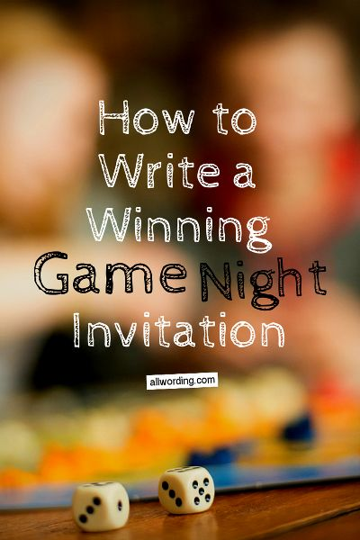Game Night Invitation Wording Ideas Game And Game Night