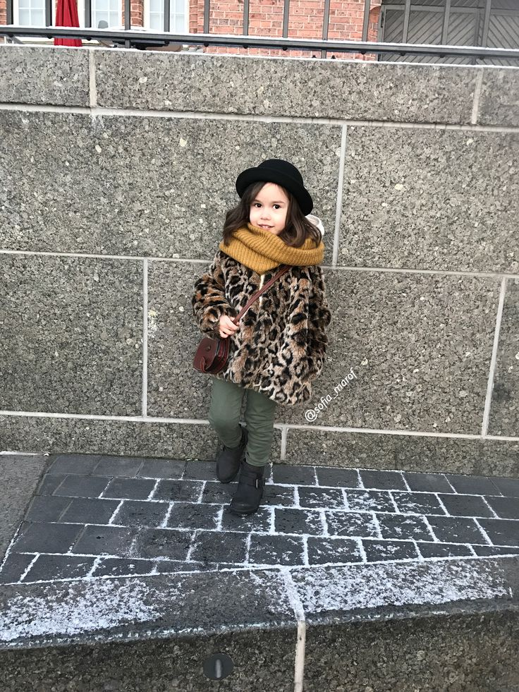 Kids style street style toddler Instagram leopard coat jacket