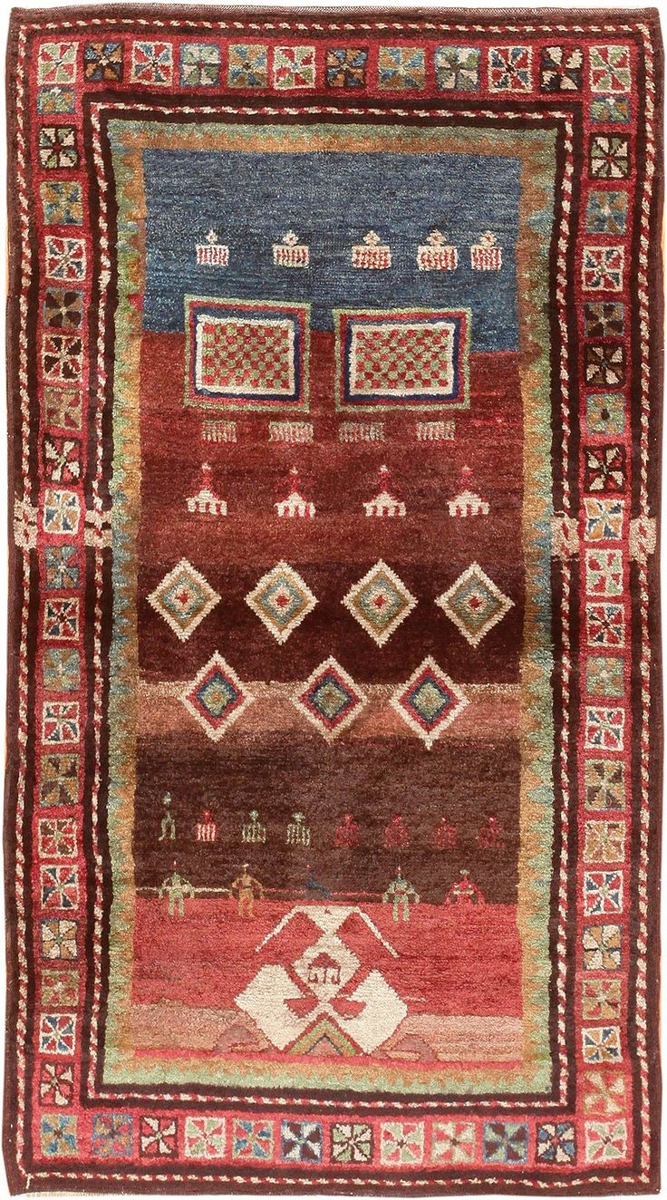 antique tribal rug zakatala