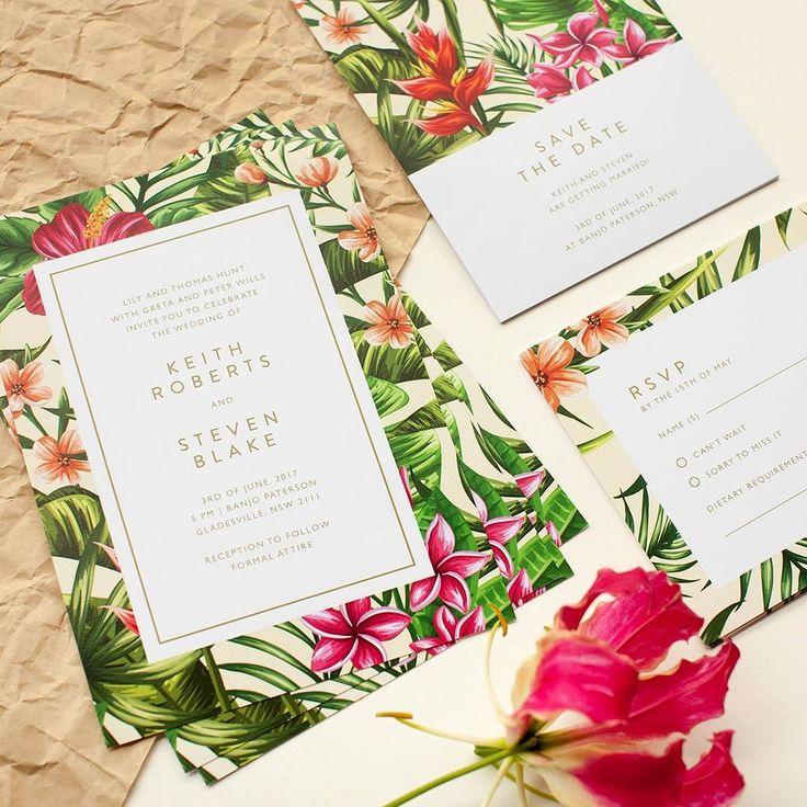 "202 gilla-markeringar, 2 kommentarer - Paperlust (@paperlust.co) på Instagram: ""Whose having a wedding in the tropics? @inggridkoe has designed this just for you   @misshanue…"""