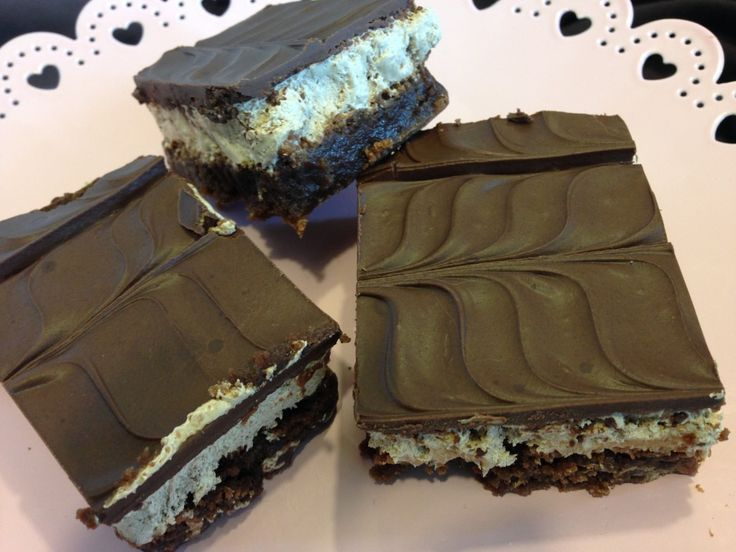 Nougat Topped Brownies: a brownie topped with light fluffy nougat!!!