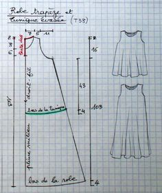 Robe trap�ze et tunique �vas�e - toutes tailles