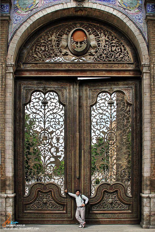 Malek Garden door. Tehran, Iran