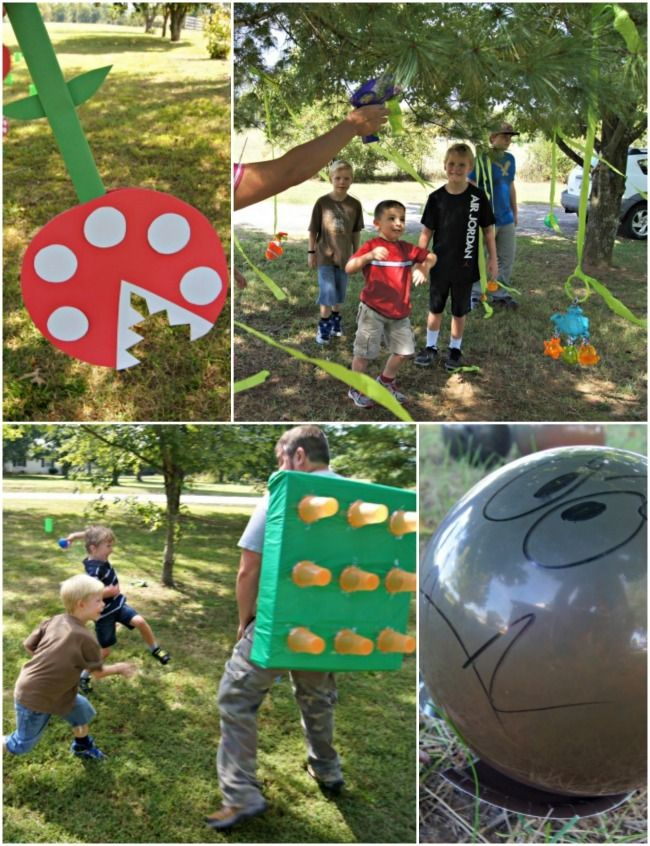 DIY SUPER MARIO PARTY WITH OBSTACLE COURSE
