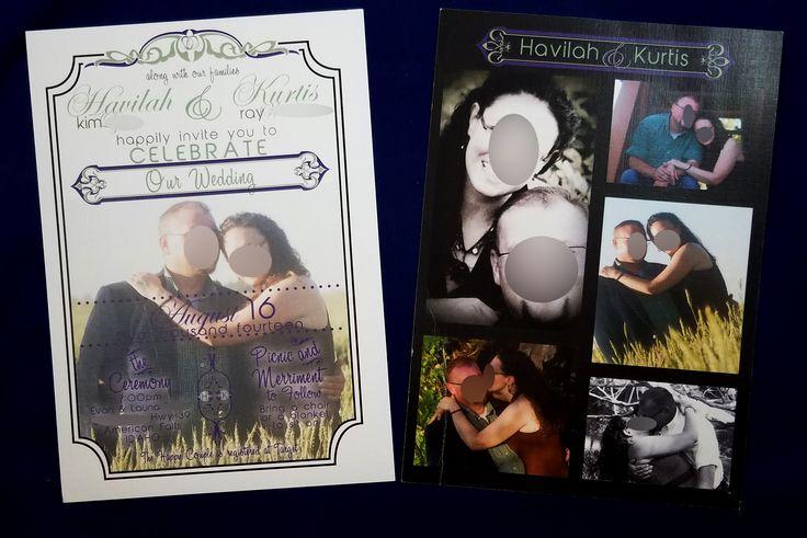 Picture collage wedding invite