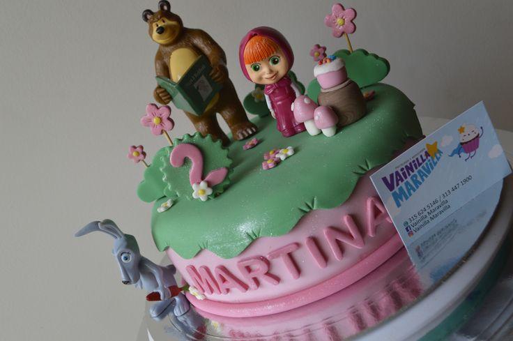 Celebramos dos años de vida de Marina con una hermosa torta del Masha y el Oso.  #bucaramanga #ponquetematico #ponque  #mashayeloso