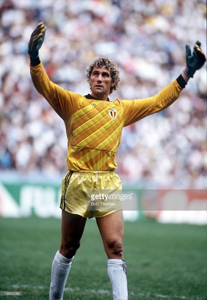 World Cup Semi Final, Azteca Stadium, Mexico, 25th June, 1986, Argentina 2 v Belgium 0, Belgium's goalkeeper Jean Marie Pfaff