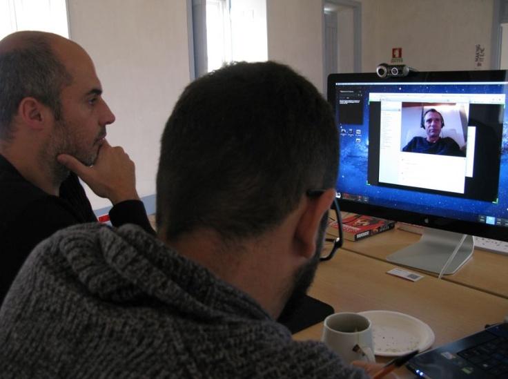 "Talking with #Joost de Raeymaeker, author of the guide ""À descoberta de Angola"""