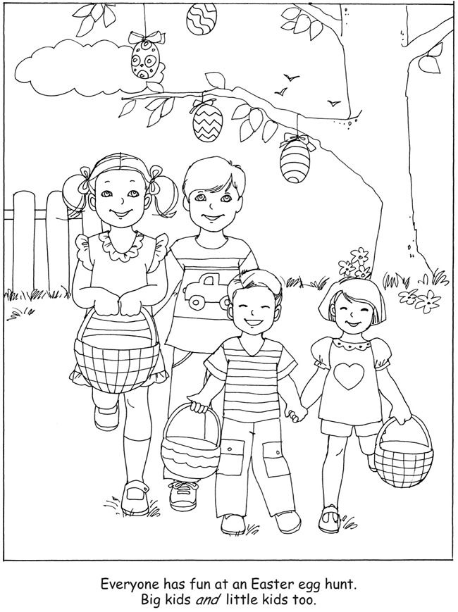 Welcome To Dover Publications Easter Egg Hunt Coloring Book