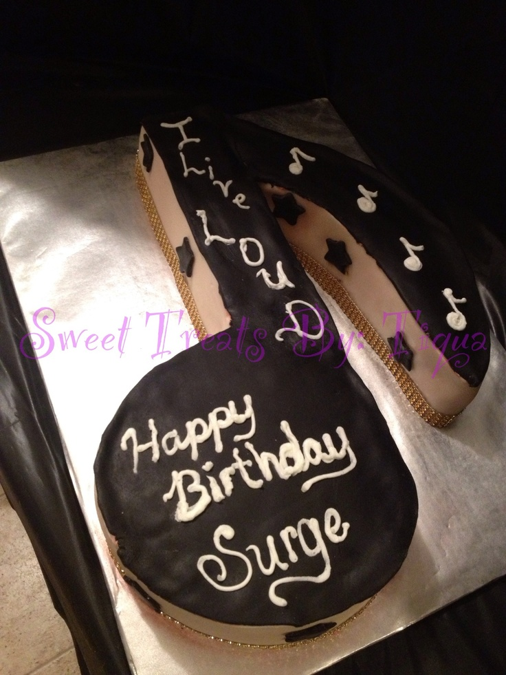 Done by yours truly- Music note cake. Covered in fondant carved from a 12x18 pan. Tfl