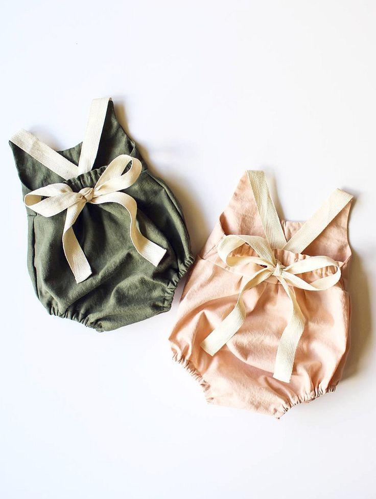 Handmade Linen & Lace Rompers | StandardOfGraceShop on Etsy