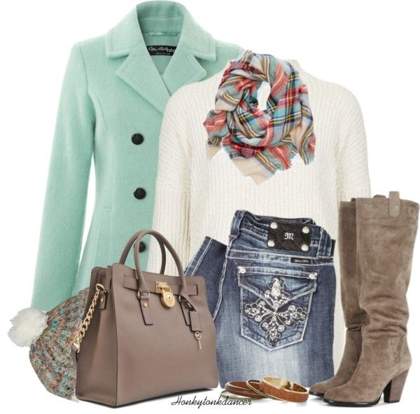 Mint Wool Coat Cute Fall Outfit
