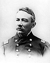 """Michael Augustine Healy (9/22/1839 - 8/301904) was a captain in the US Revenue Cutter Service (later the US Coast Guard). After Seward's Alaska Purchase in 1867, Healy patrolled the 20,000 miles of Alaskan coastline for more than 20 years, earning great respect from the natives and seafarers alike and was known as """"Hell Roaring Mike."""" He has been identified as the first black man to command a ship of the US government, although he identified as Irish American during his lifetime."""