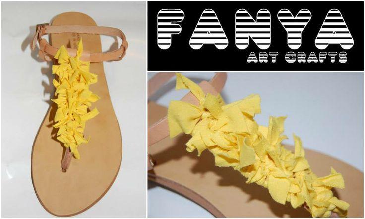 "handmade sandals ""tweety""  #handmade #sandals #fanya"