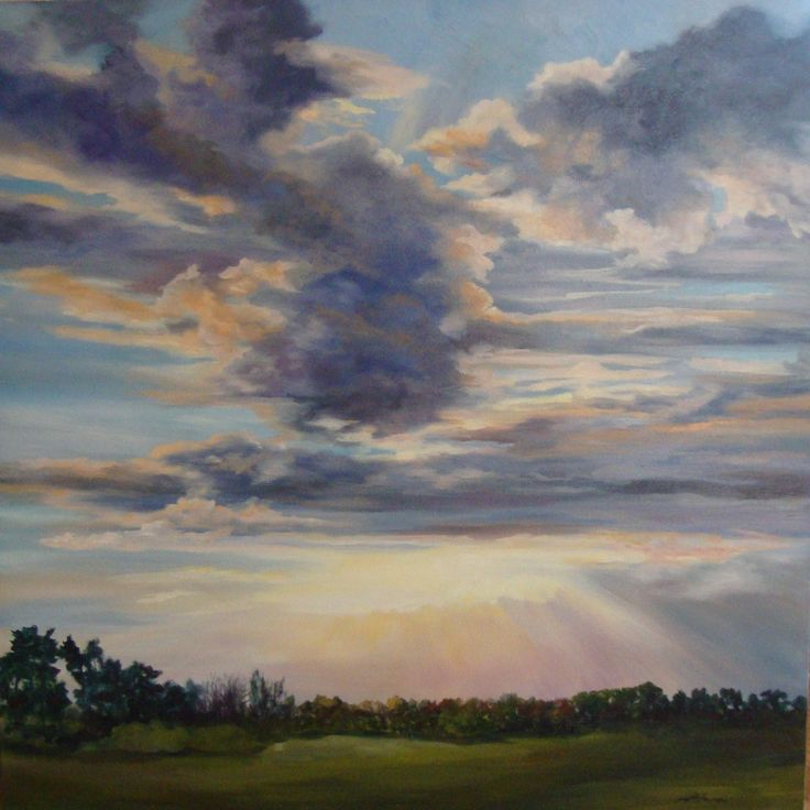 "Susan Stefanski First Friday Art Show Oil Paintings:""Skies"" Feb 3rd Friday Exhibit Opening 5-8pm www.mainlineframing.com"