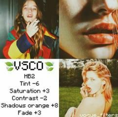 HB2 Tint -6 Saturation +3 Contrast -2 Shadows Orange +8 Tint +3