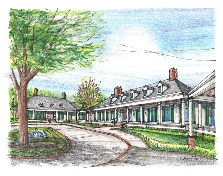 Kenneth hart architect concept sketch for the proposed for Architects greenville sc