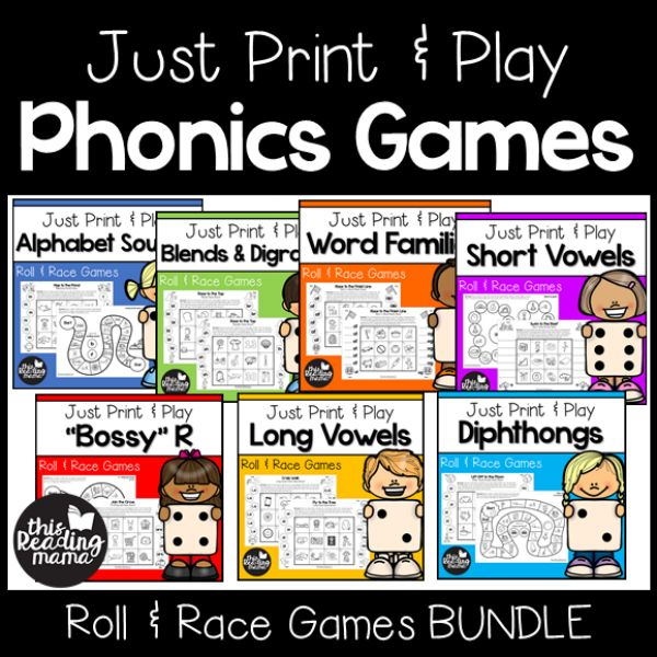 If you teach children of multiple ages from Pre-K to 2nd grade, this MEGA Print and Play Phonics Games Bundle is for you! With this pack, you'll have over 500 pages of phonicsgames at your fingertips. Just print and play!